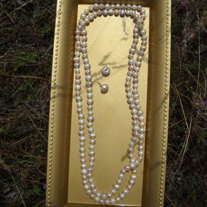 Jewelry - Real Freshwater Pearl Necklace Set